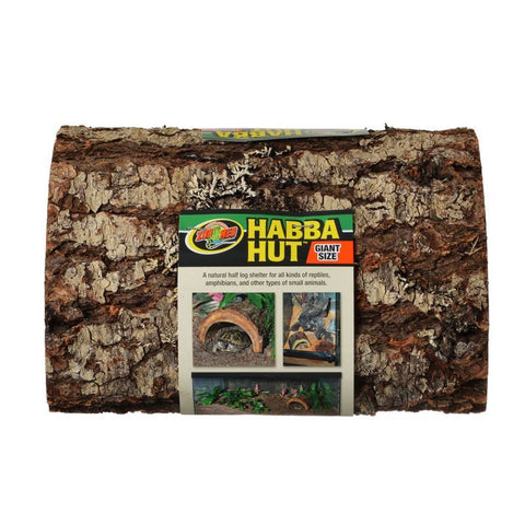Zoo Med Habba Hut Natural Half Log with Bark Shelter