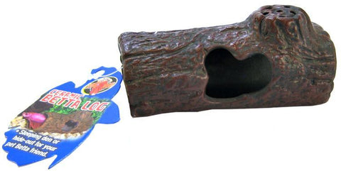 Zoo Med Aquatic Ceramic Betta Log Ornament