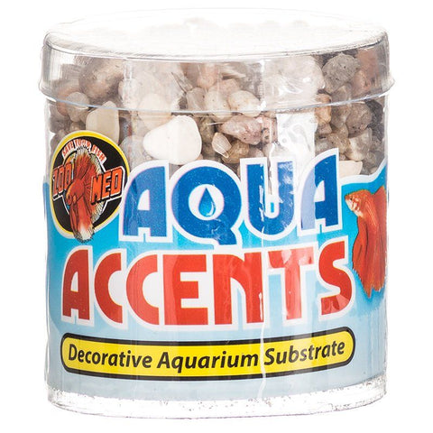 Zoo Med Aquatic Aqua Accents Aquarium Substrate - Light River Pebbles
