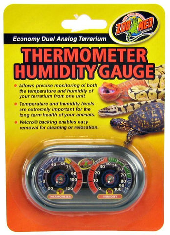 Zoo Med Terrarium Thermometer & Humidity Gauge
