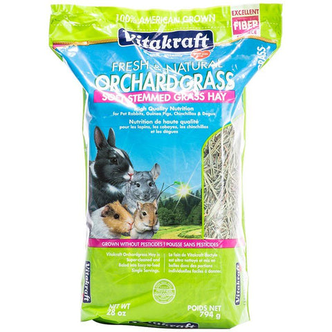 Vitakraft Fresh & Natural Orchard Grass - Soft Stemmed Grass Hay