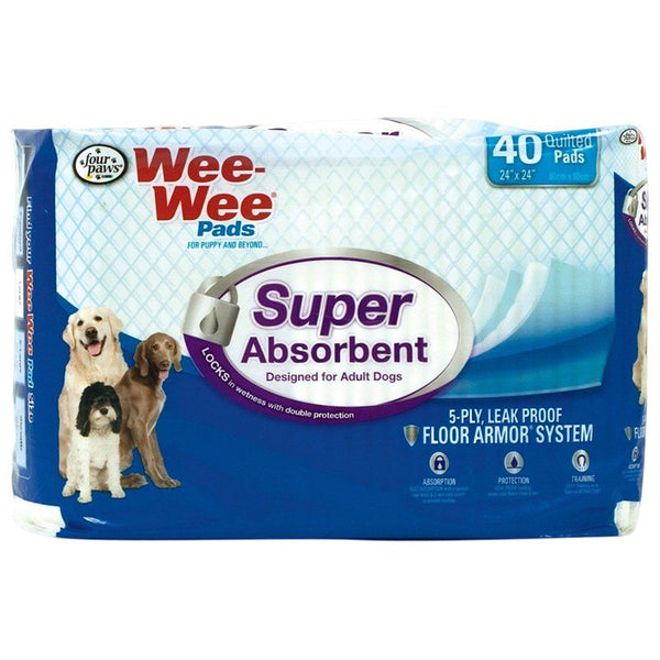 Four Paws Wee Wee Pads - Super Absorbent