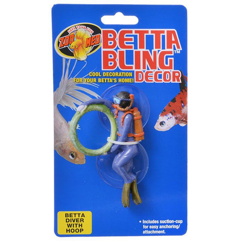 Zoo Med Betta Bling Diver with Hoop Decor