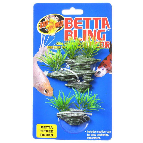 Zoo Med Betta Bling Tiered Rocks Decor
