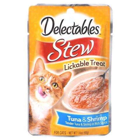 Hartz Delectables Stew Lickable Cat Treats - Tuna & Shrimp
