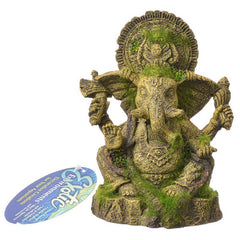 Exotic Environments Ganesha Statue with Moss Aquarium Ornament