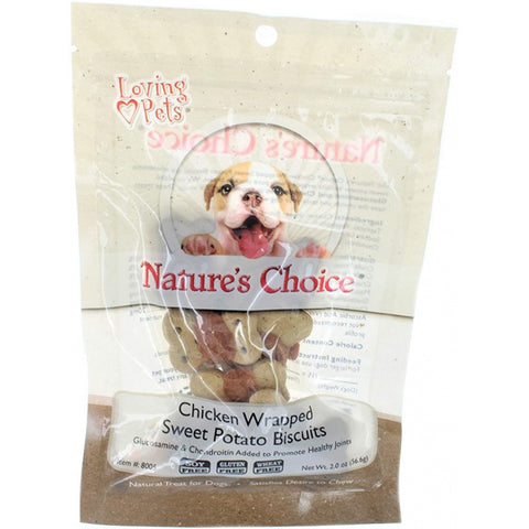 Loving Pets Nature's Choice Sweet Potato Biscuit Wrapped with Chicken Breast