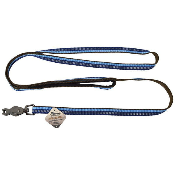 K9 Explorer Sapphire Reflective Leash with Scissor Snap