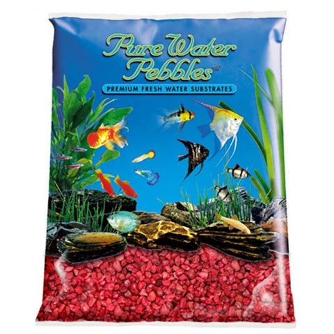 Pure Water Pebbles Aquarium Gravel - Currant Red