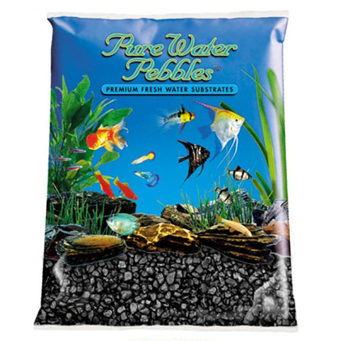 Pure Water Pebbles Aquarium Gravel - Jet Black
