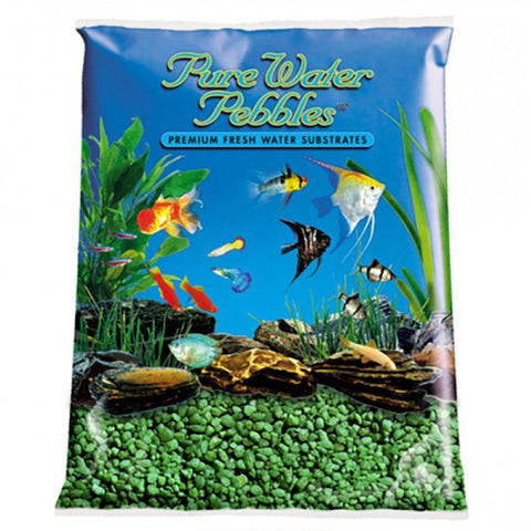 Pure Water Pebbles Aquarium Gravel - Emerald Green