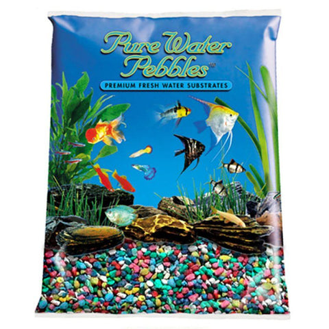 Pure Water Pebbles Aquarium Gravel - Rainbow