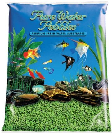 Pure Water Pebbles Aquarium Gravel - Neon Green