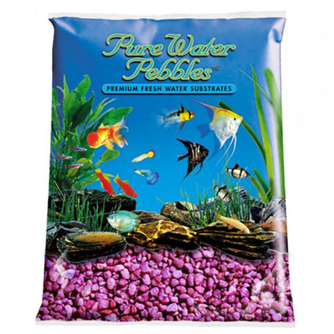 Pure Water Pebbles Aquarium Gravel - Neon Purple