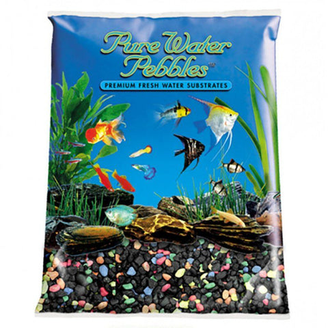 Pure Water Pebbles Aquarium Gravel - Black Beauty Pebble Mix