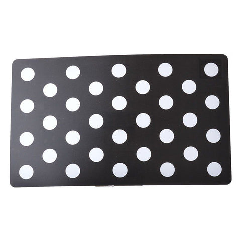 Petmate Plastic Food Mat - Black & White Dots