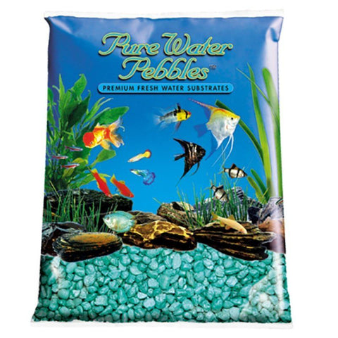 Pure Water Pebbles Aquarium Gravel - Emerald Green Frost
