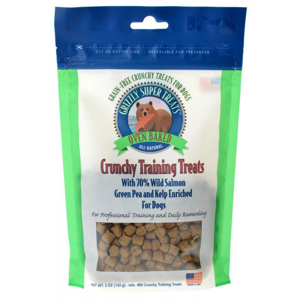 Grizzly Super Treats Green Pea & Kelp Crunchy Training Treats with Salmon