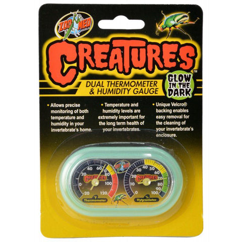 Zoo Med Creatures Dual Thermometer & Humidity Gauge