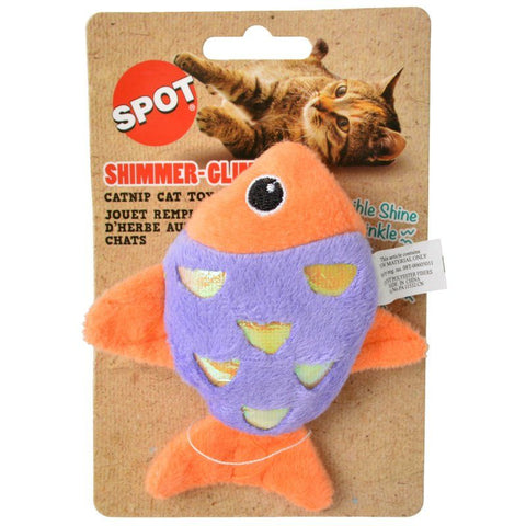 Spot Shimmer Glimmer Fish Catnip Toy - Assorted Colors
