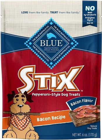 Blue Buffalo Stix Natural Soft-Moist Dog Treats - Bacon Recipe