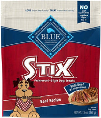 Blue Buffalo Stix Natural Soft-Moist Dog Treats - Beef Recipe