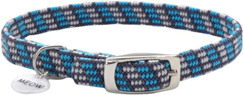 Coastal Pet Elastacat Reflective Safety Collar with Charm Grey/Blue