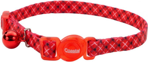 Coastal Pet Safe Cat Breakaway Collar White/Red Plaid