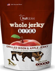 Fruitables Whole Jerky Bites Grilled Bison Dog Treats