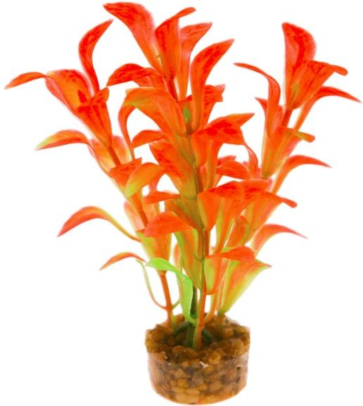 Blue Ribbon Colorburst Florals Orange Scoop Leaf Aquarium Decor