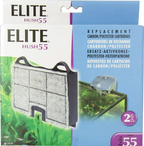 Elite Hush 55 Replacement Carbon / Polyester Cartridges