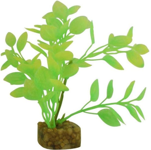 GloFish Plastic Aquarium Plant Green / Yellow