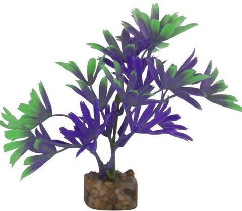 GloFish Plastic Aquarium Plant - Purple/Green