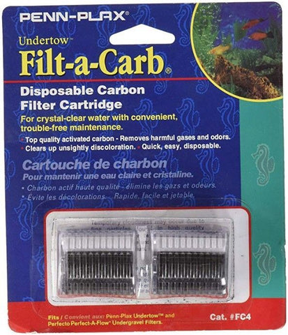 Penn Plax Filt-a-Carb Undertow & Perfect-A-Flow Carbon Undergravel Filter Cartridge