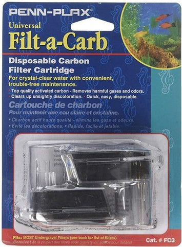 Penn Plax Filt-a-Carb Universal Carbon Undergravel Filter Cartridge