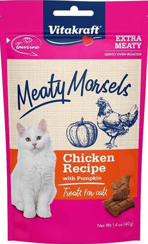 VitaKraft Meaty Morsels Chicken & Pumkin Cat Treat