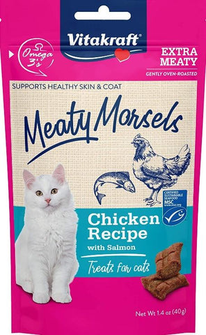 VitaKraft Meaty Morsels Chicken & Salmon Cat Treat
