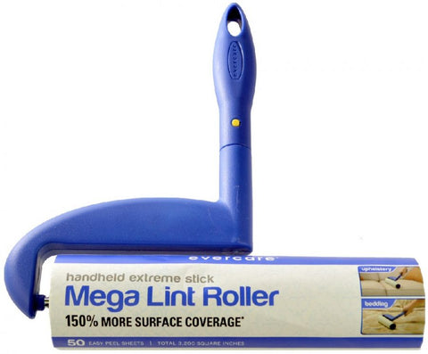 Evercare Mega Lint Roller Hand Held Extreme Stick with 50 Sheets