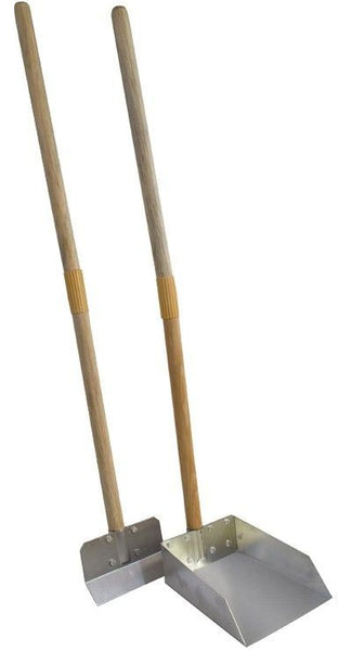 Flexrake Scoop and Steel Spade Set with Wood Handle - Small