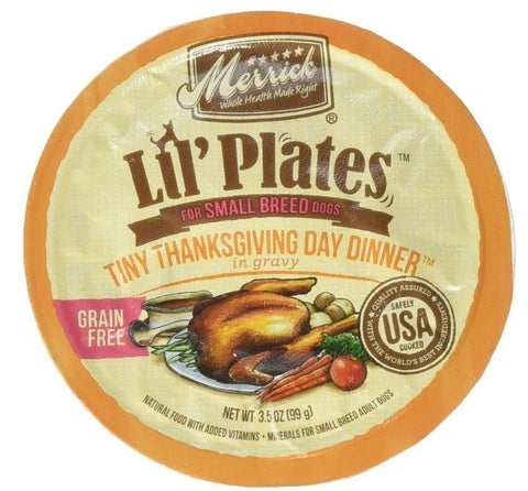 Merrick Lil Plates Grain Free Tiny Thanksgiving Day Diner