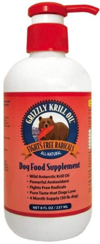 Grizzly Wild Antarctic Krill Oil All-Natural Antioxidant Dog Food Supplement