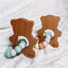Load image into Gallery viewer, Teddy Bear Teether - Ocean Blues