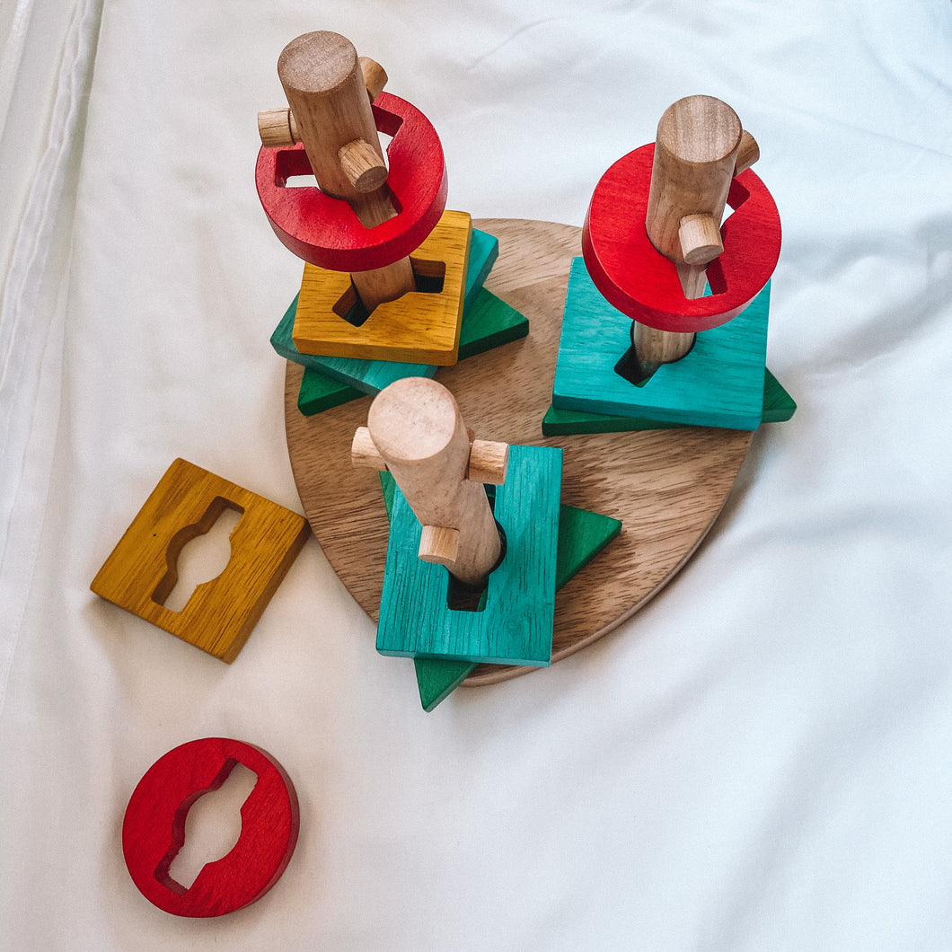Wooden Twisting Disk Puzzle