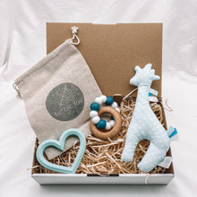 Load image into Gallery viewer, Teething Sensory Box - Blue Tones