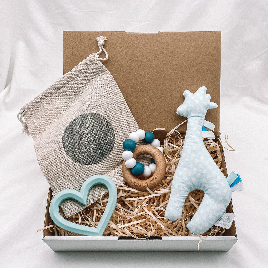 Teething Sensory Box - Blue Tones