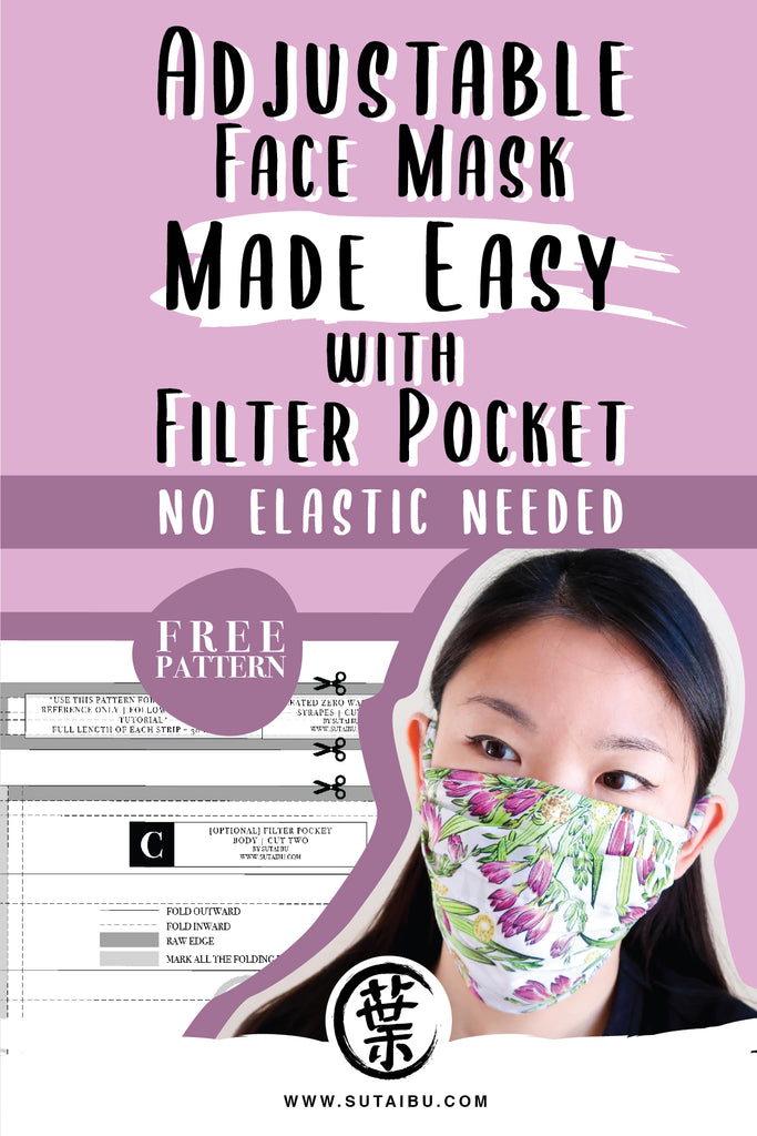 Sew a Face Mask with No Elastic Needed