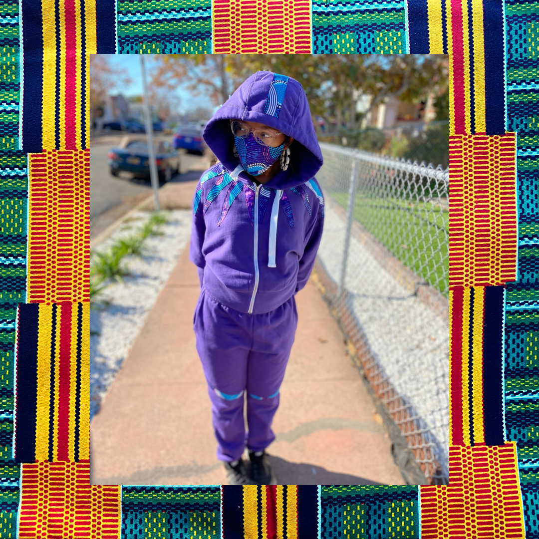 Supernova Sweatsuit | Heavy weight Track Suit | Women's African Print Jogger Sweat Suit