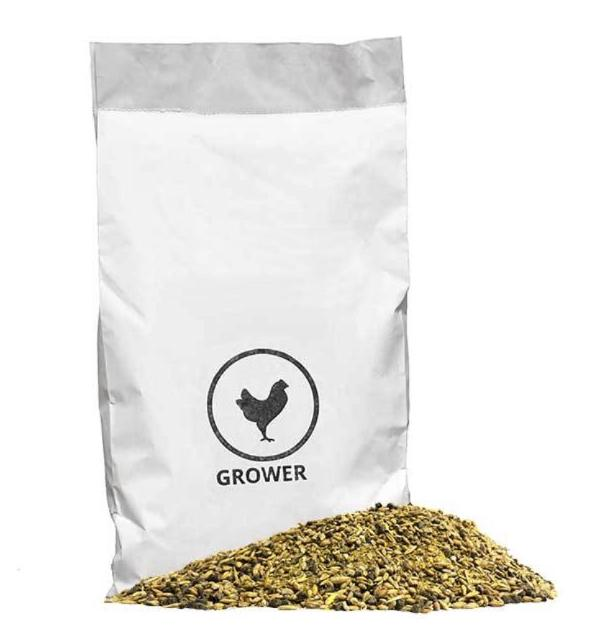 Mile Four Mile Four Grower Chicken Feed - 23 Pounds - Certified Organic - 18% Protein -