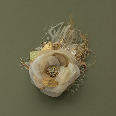 Wedding hair flower, Bridal hair flower