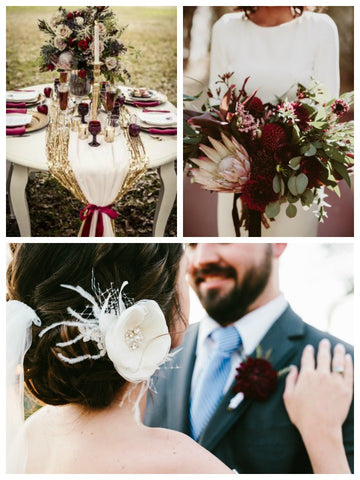Autumn Fall wedding trends 2017 - Burgundy weddings